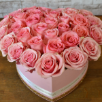 Box of Pink Roses