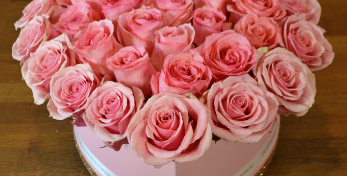 A Beautiful Box Of Pink Roses Can Beautify Any Relation And Event